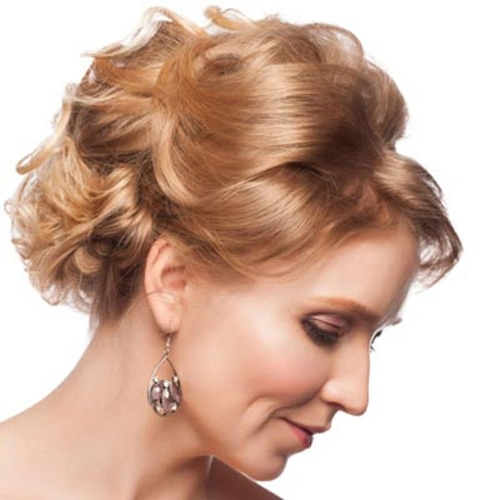 Short Curly Updo Hairstyles For Mother Of The Bride – Cool & Trendy Inside Current Updo Hairstyles For Mother Of The Bride (View 9 of 15)