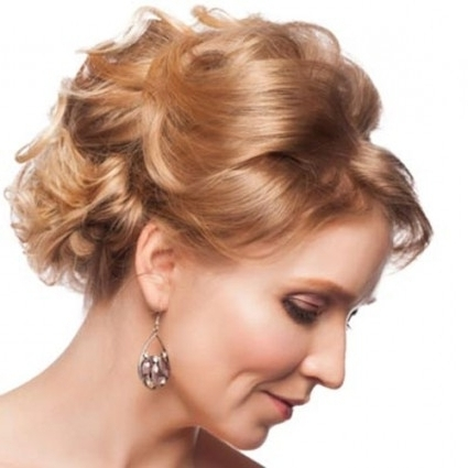 Short Curly Updo Hairstyles For Mother Of The Bride – Cool Within Throughout Most Current Mother Of The Bride Updo Hairstyles For Short Hair (View 5 of 15)