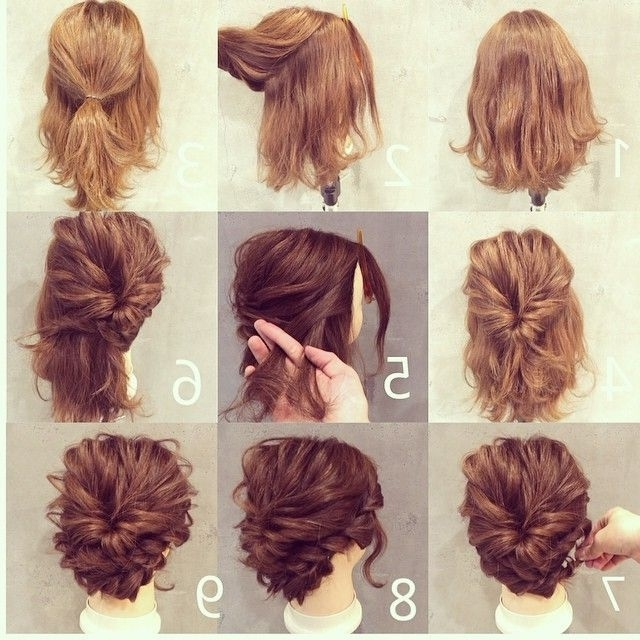 Short Hair Styling   Hairstyles   Pinterest   Short Hair, Hair Style Throughout Most Up To Date Homecoming Updo Hairstyles For Short Hair (View 11 of 15)