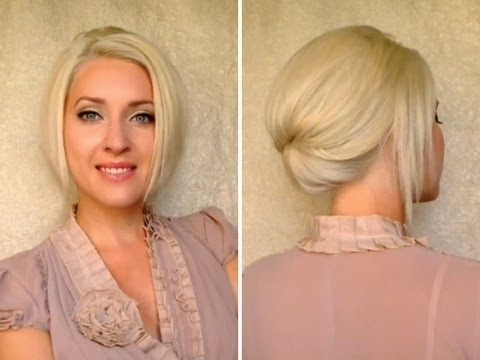 Short Hair Updo For Work Office Job Interview Elegant Hairstyle For In Most Popular Elegant Updo Hairstyles For Short Hair (View 15 of 15)
