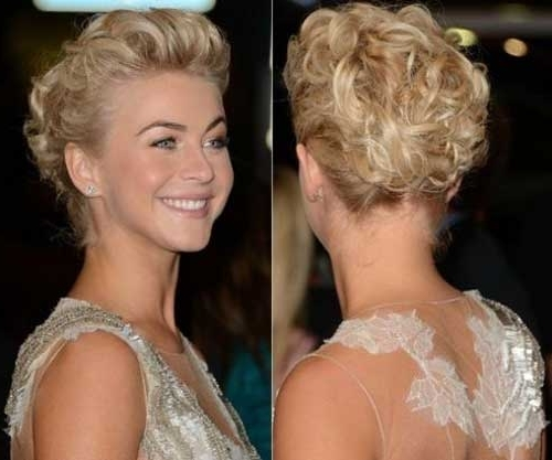 Displaying Gallery of Wedding Updo Hairstyles For Short Hair (View ...