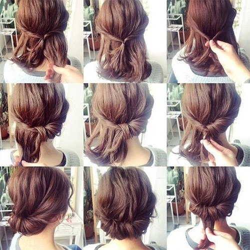 Short Hair Updos, How To Style Bobs, Lobs Tutorials Pertaining To Latest Easy Updo Hairstyles For Short Hair (View 10 of 15)