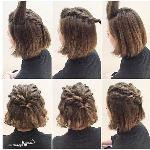 Short Hair Updos, How To Style Bobs, Lobs Tutorials Throughout Best And Newest Super Easy Updos For Short Hair (View 5 of 15)
