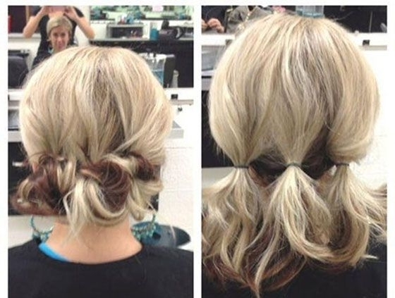 Short Hair Updos, How To Style Bobs, Lobs Tutorials | Updos, Formal For Latest Easy Updo Hairstyles For Short Hair (View 2 of 15)