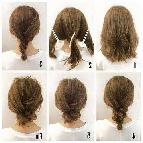 Short Hair Updos, How To Style Bobs, Lobs Tutorials Within 2018 Quick Easy Updo Hairstyles For Short Hair (View 12 of 15)
