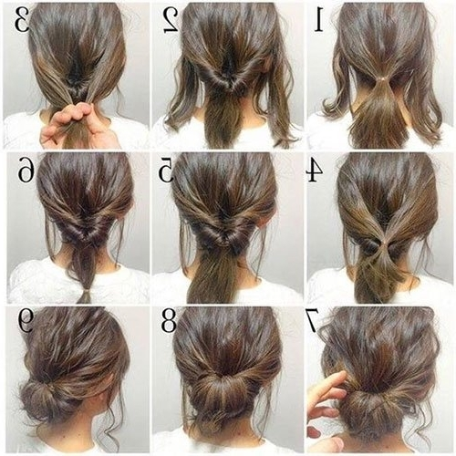 Short Hair Updos, How To Style Bobs, Lobs Tutorials Within Most Current Super Easy Updos For Short Hair (View 3 of 15)