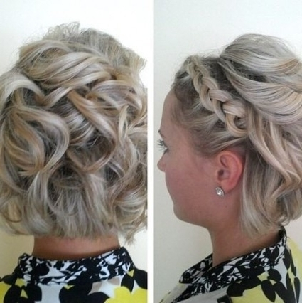 View Gallery Of Bridesmaid Hairstyles Updos For Short Hair Showing