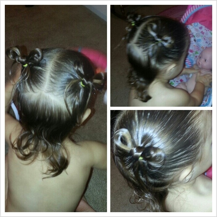 Displaying Gallery Of Updo Hairstyles For Little Girl With Short