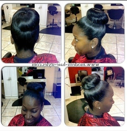 Short Hairstyles For Black Women, Self Styling Options, And Inside Latest Updo Hairstyles For Permed Hair (View 14 of 15)