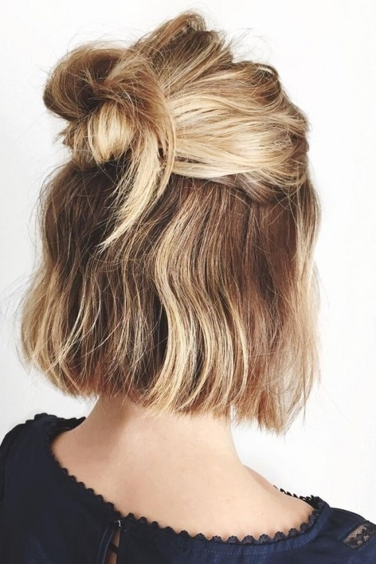 Short Hairstyles : Quick Easy Updo Hairstyles For Long Thick Hair Pertaining To Recent Quick Easy Short Updo Hairstyles (View 13 of 15)