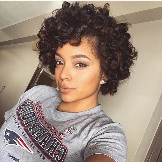 Short Hairstyles: Short Curly Hairstyles Black Hair Weave Females In Most Recent Black Updos For Short Hair (View 10 of 15)
