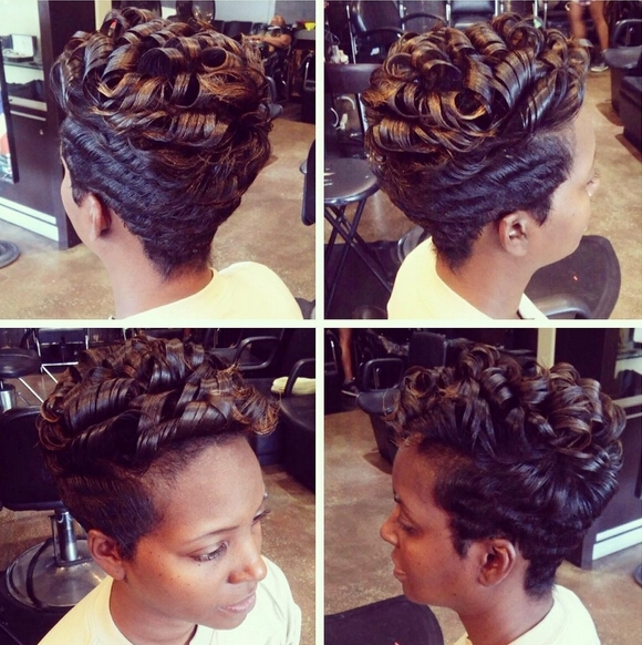 Short Hairstyles With Curly Hair – African American Women Haircuts Pertaining To Most Recently Updos For Short Hair For African American (View 15 of 15)