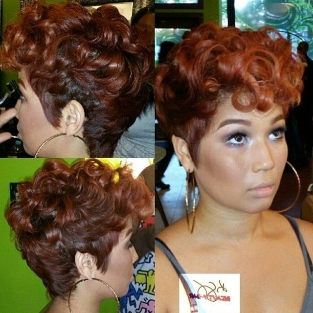 Short Natural Hairstyles For African American Females – Hairstyle With Most Current Updos For Short Hair For African American (View 4 of 15)