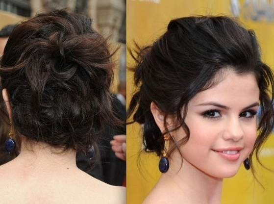 Shoulder Length Dressy Hairstyles: Prom Hairstyles For Medium Length Regarding Latest Dressy Updo Hairstyles (View 12 of 15)