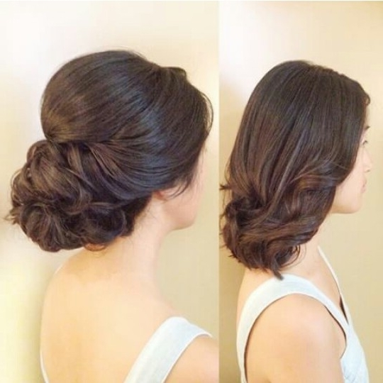 Shoulder Length Up Do | Updos And Formal Styles | Pinterest Within Most Popular Wedding Updos For Medium Length Hair (View 5 of 15)