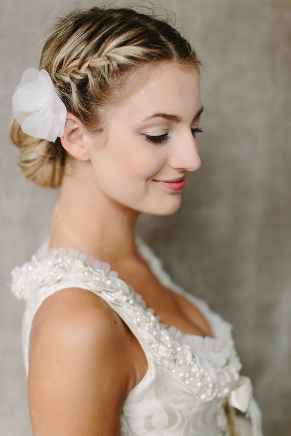 Side View Of Braided Bun For Wedding – Wedding Hairstyles 2014 Inside Newest Bridal Bun Updo Hairstyles (View 4 of 15)