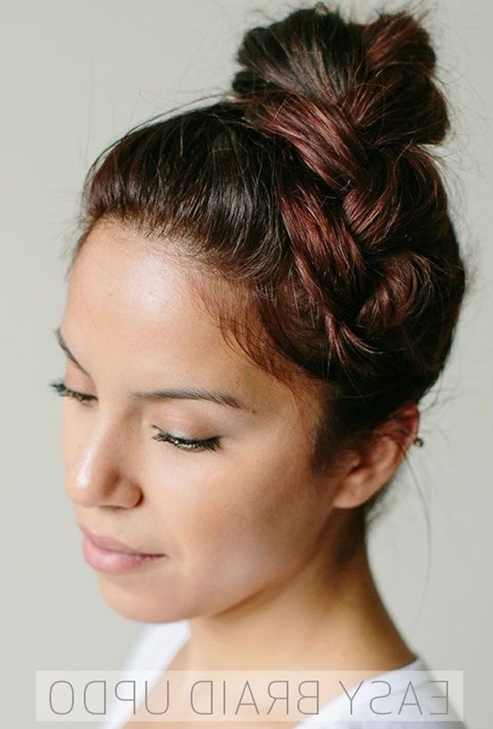 Simple And Easy Braided Updos Hairstyles – Popular Haircuts Within Most Recently Easy Braided Updo Hairstyles (View 14 of 15)