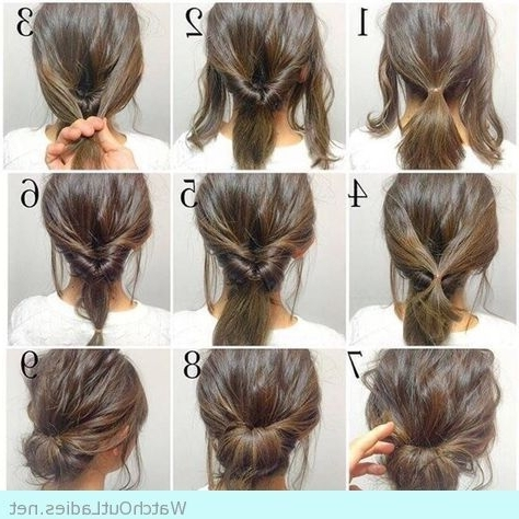Simple And Pretty Updo Tutorial   Hairstyle Inspo   Pinterest   Updo For Most Current Updos For Medium Length Thin Hair (View 2 of 15)