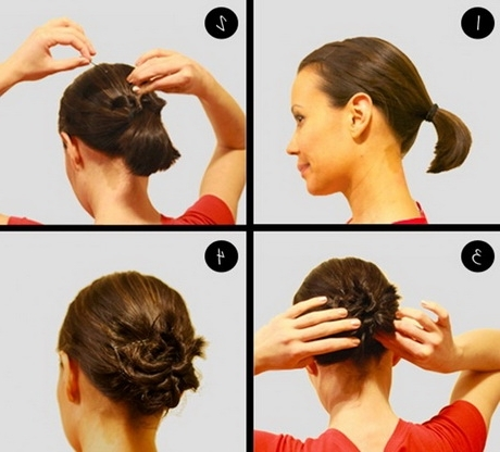 Simple Bun Hairstyles For Short Hair – Hairstyle For Women & Man In Best And Newest Updo Hairstyles With Short Hair (View 12 of 15)