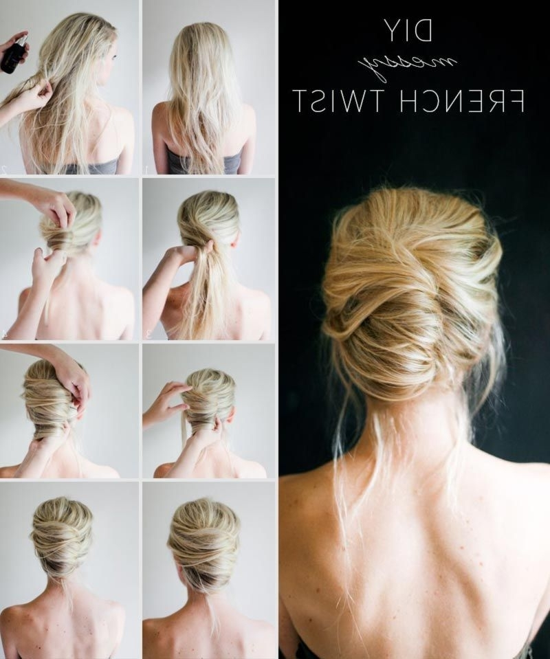 Simple Diy Spring Summer Hairstyle Messy French Twist | Hair For Most Popular French Twist Updo Hairstyles For Short Hair (View 11 of 15)