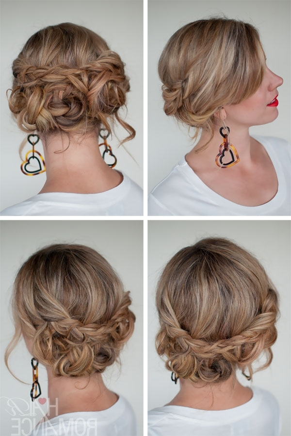 Simple Easy Casual Messy Braided Updo – The Best Braided Updos For Regarding Recent Quick Braided Updo Hairstyles (View 15 of 15)