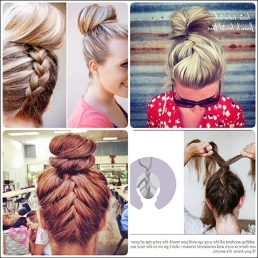 Simple French Braid Updo Hairstyles For Medium Hair – Hair Fashion With Latest Easy Updo Hairstyles For Medium Hair To Do Yourself (View 14 of 15)