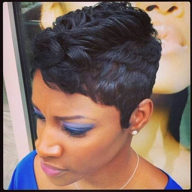 Simple Hairstyle For African American Short Hairstyles Best Images Within Current Updos For Short Hair For African American (View 2 of 15)