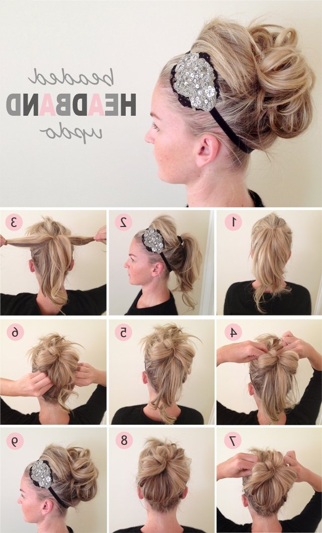 Showing Gallery of Cute And Easy Updos For Medium Length Hair (View ...