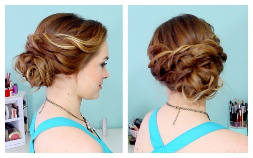 Simple Hairstyle For Formal Occasions: Long Hair Messy Updos Easy With Regard To Most Popular Fancy Updo Hairstyles For Long Hair (View 13 of 15)