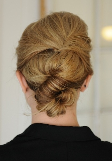 Simple Knot Updo Hairstyle – Popular Haircuts With Most Recent Knot Updo Hairstyles (View 2 of 15)