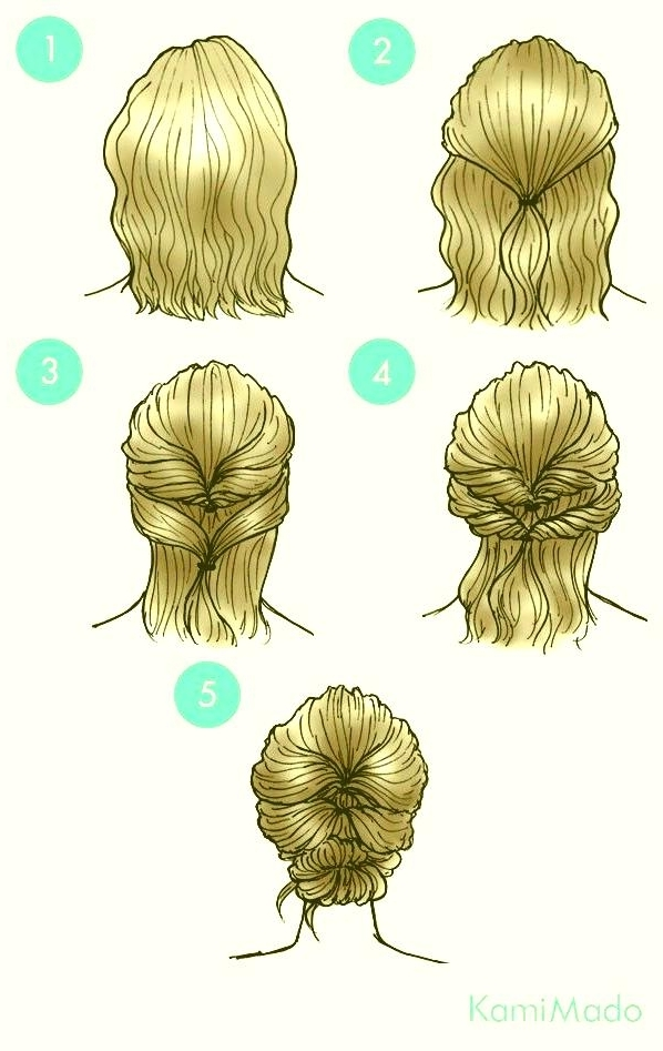 Simple Prom Hairstyles For Short Hair Updos Within Most Recent Cute Updo Hairstyles For Short Hair (View 14 of 15)