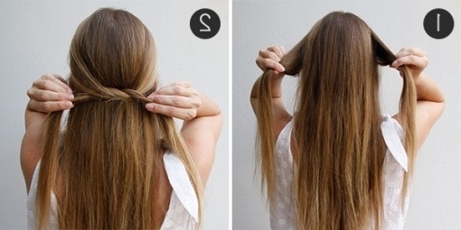 Simple Summer 'do: The Knotted Half Updo | More In Top Straight Regarding Most Recently Straight Half Updo Hairstyles (View 12 of 15)