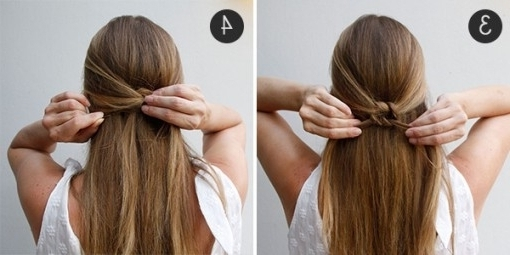 Simple Summer 'do: The Knotted Half Updo | More Inside Most Wanted Pertaining To Current Easy Half Updo Hairstyles (View 12 of 15)