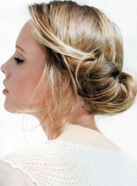 Simple Updo Hairstyle For Prom, Homecoming – Popular Haircuts Within Most Popular Cute Updo Hairstyles (View 4 of 15)