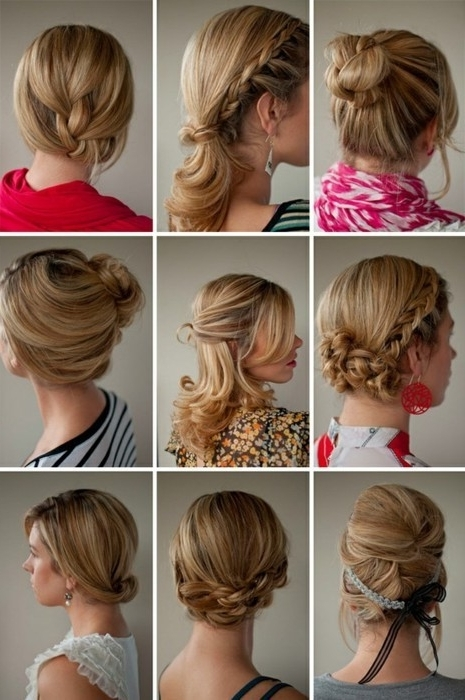 Simple Updo Shoulder Length Hair – The Newest Hairstyles Pertaining To Most Popular Quick Updos For Medium Length Hair (View 11 of 15)