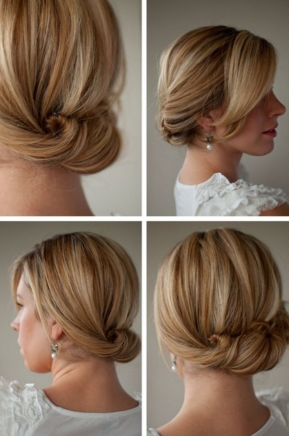 Smooth Simple Flattering Updo Hairstyle For Long Hair – Hairstyles For Current Simple Hair Updo Hairstyles (View 13 of 15)