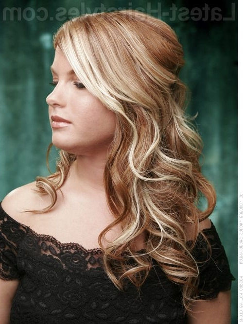 Soft Curly Half Updo | Half Updos – Elegant & Beautiful Half Updo With Regard To Current Half Curly Updo Hairstyles (View 13 of 15)
