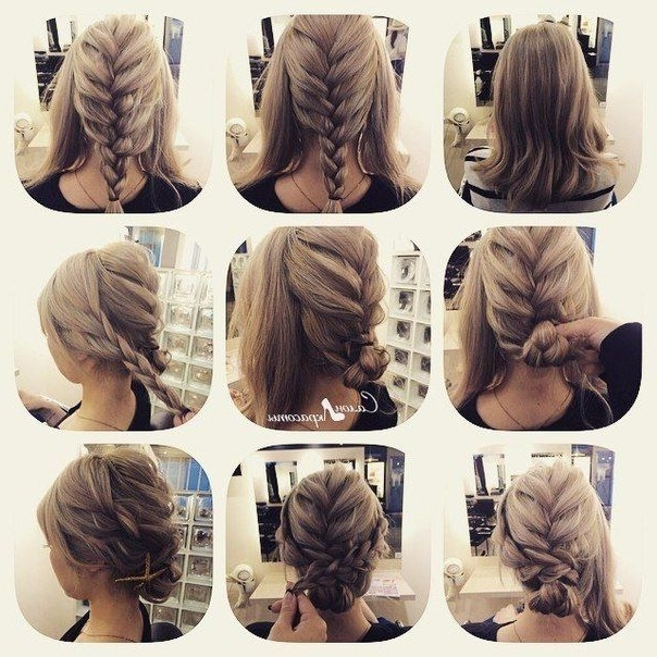 Source: Vk | Hairstyles | Pinterest | Stylish, Tutorials And Throughout Most Popular Easy Braided Updo Hairstyles (View 6 of 15)