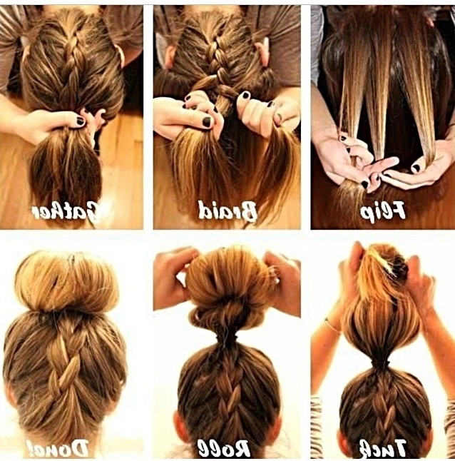 Stepstep Braided Bun | Hair Style, Make Up And Hair And Beauty Throughout Latest Easy To Do Updo Hairstyles For Long Hair (View 14 of 15)