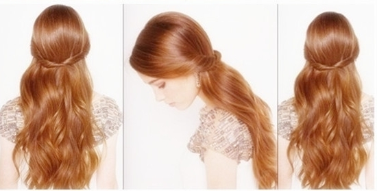 Straight Hairstyles Vpfashion In Latest Straight Half Updo Hairstyles (View 14 of 15)