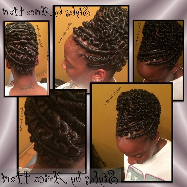 Stuffed Twist Protective #hair Style On Instagram Blog  Http Throughout Newest Stuffed Twist Updo Hairstyles (View 10 of 15)