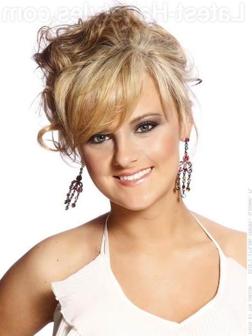 Stunning Updos For Medium Length Hair   Her101 Inside Most Up To Date Updos For Medium Hair With Bangs (View 10 of 15)