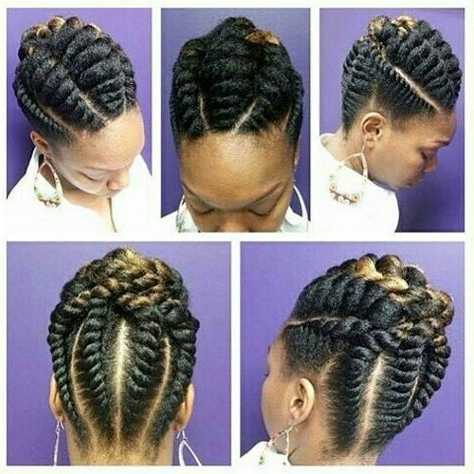 Stunningly Cute Ghana Braids Styles For 2018 | Flat Twist, Ghana With Most Popular Jumbo Twist Updo Hairstyles (View 9 of 15)