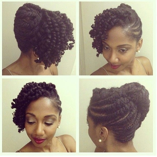 Style – Natural Black Hair   Wedding Hairstyles For Natural Hair With Most Recently Natural Hair Updos For Medium Hair (View 10 of 15)