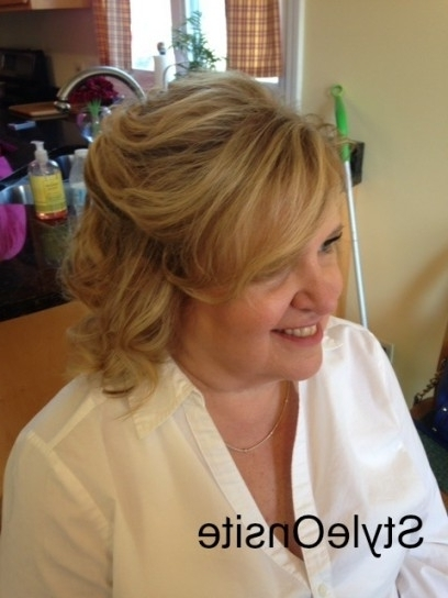 Style Onsite » Style Onsite » Mother Of The Bride Hair And Makeup In For 2018 Half Updos For Mother Of The Bride (View 7 of 15)