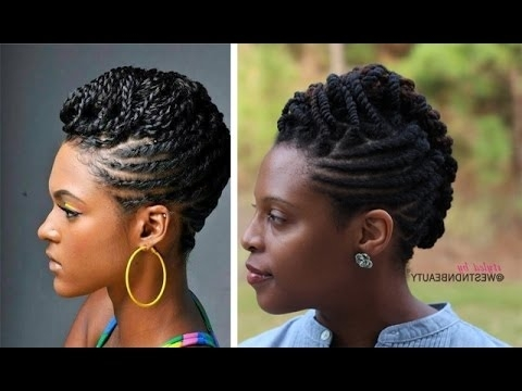 Styledwestndnbeauty| Twist, Roll, & Braid Natural Hair Updo With 2018 African Hair Braiding Updo Hairstyles (View 2 of 15)