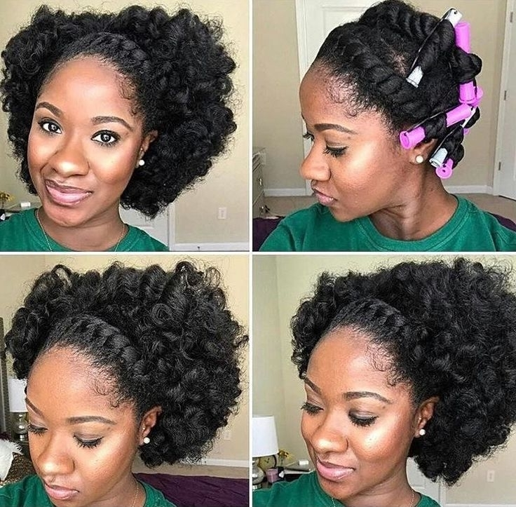 Styles For Natural Hair Best 25 Natural Black Hair Ideas On Regarding Current Updo Hairstyles For Natural Black Hair (View 9 of 15)