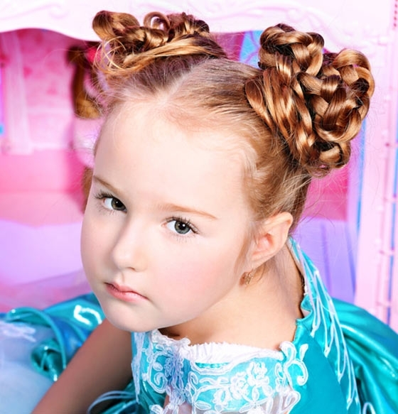 Stylish Hairstyles For Your Little Girl For Newest Children's Updo Hairstyles (View 8 of 15)