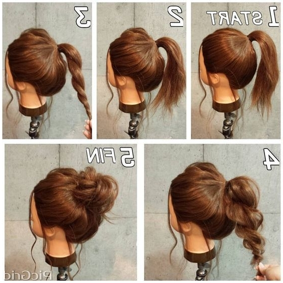 Super Easy Messy Bun In 5 Simple Steps | Makeup Mania | Beauty Pertaining To Most Popular Casual Updos For Medium Length Hair (View 5 of 15)