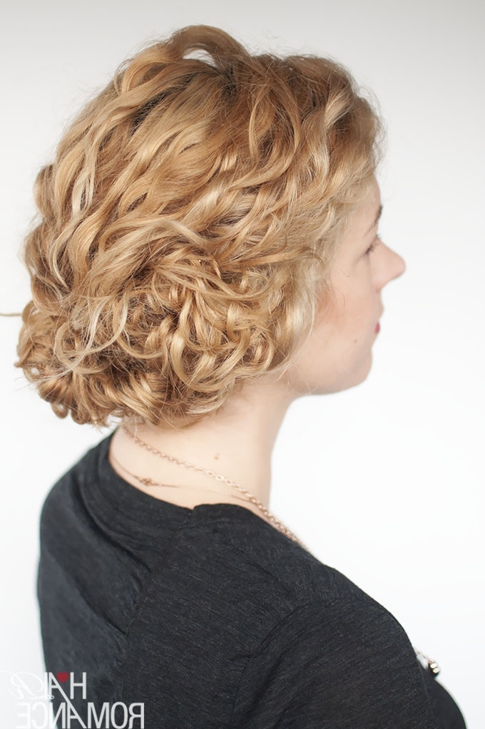 Super Easy Updo Hairstyle Tutorial For Curly Hair – Hair Romance In Latest Easy Updos For Wavy Hair (View 9 of 15)
